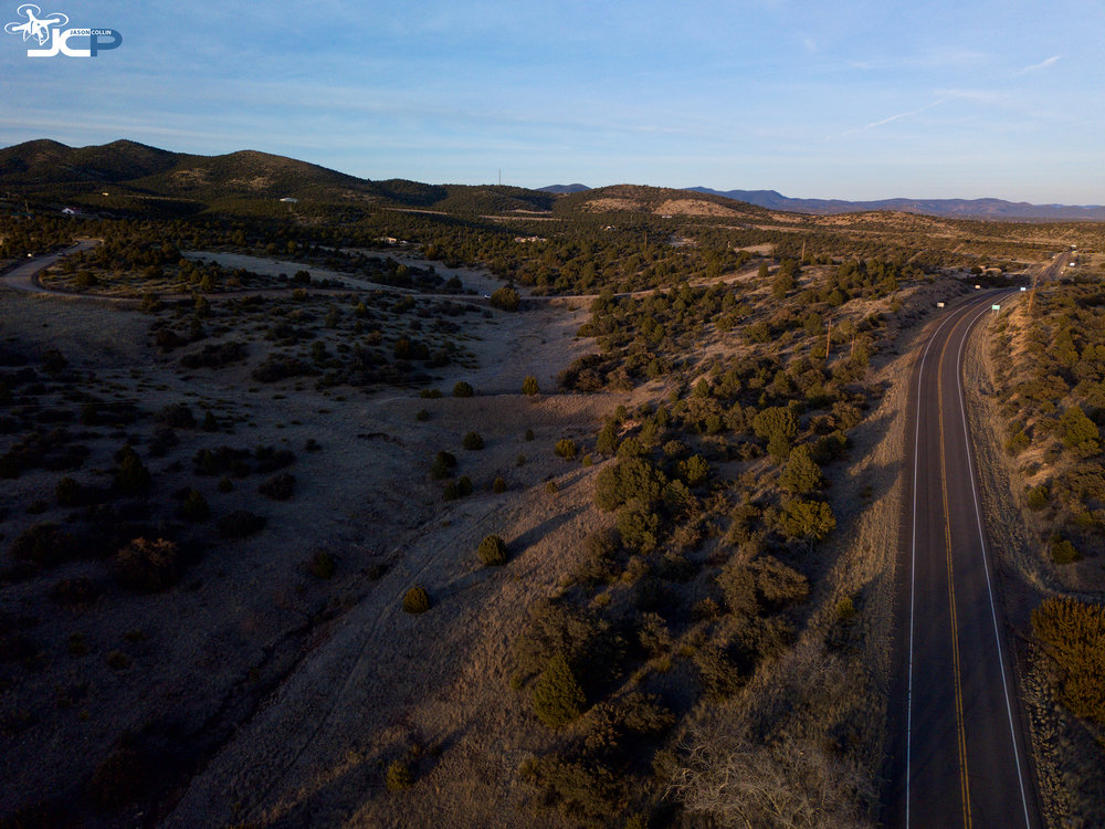 drone aerial photo of new mexico rural land