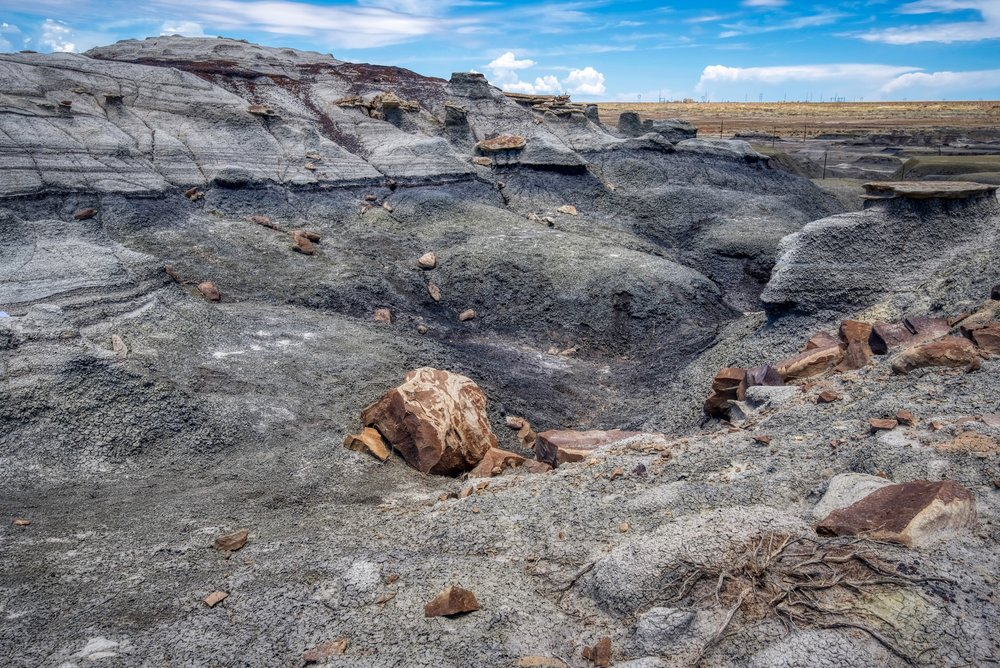 The alien landscape of Bisti Badlands in New Mexico