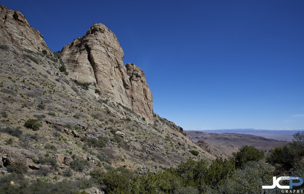 Looking down Spring Canyon in Rockhound State Park in New Mexico