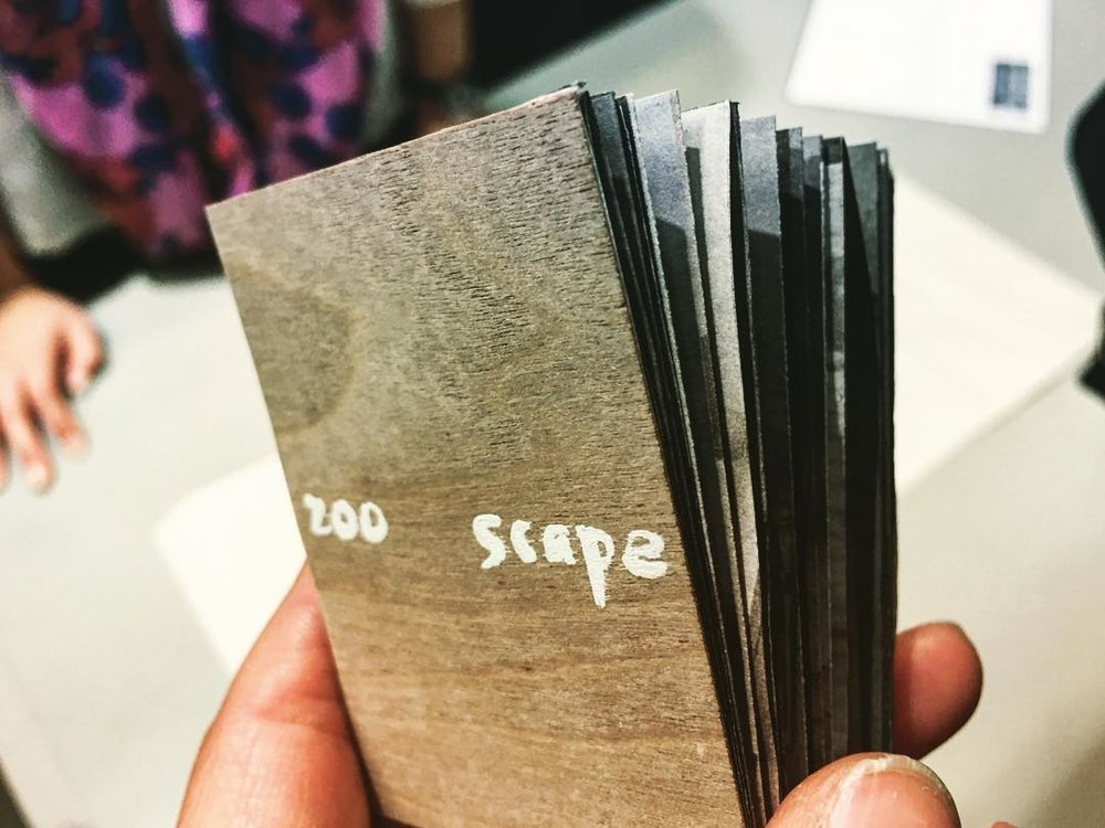One inspired student, Boya Guo, MFA student of the Harvard Graduate School of Design, chose to make a maze book for her final project, titled  Zooscape , for the studio course.