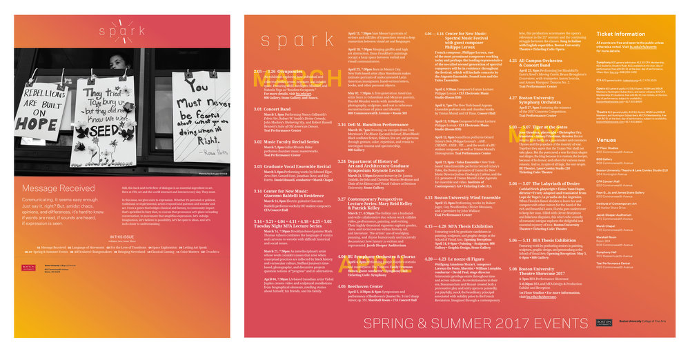 Volume Two, Issue Three: Spring & Summer 2017 (Wildcard Issue inspired by the contrasting tart and sweetness of an early Spring grapefruit.)