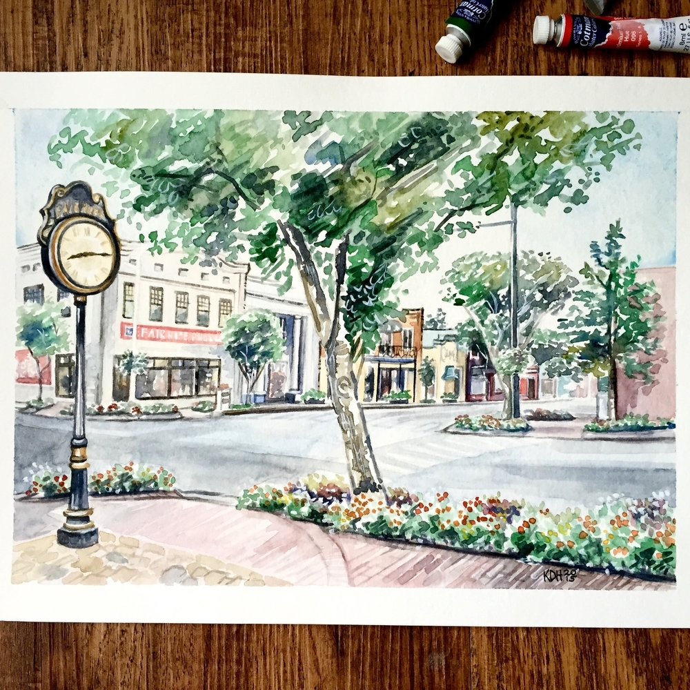 Fairhope Clock [9x12]