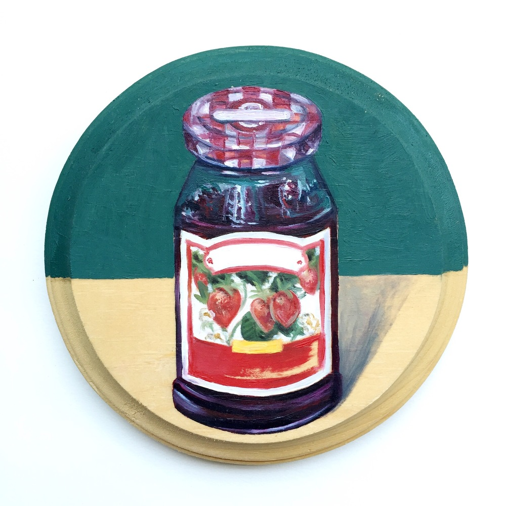 Strawberry Jelly [oil on wood]