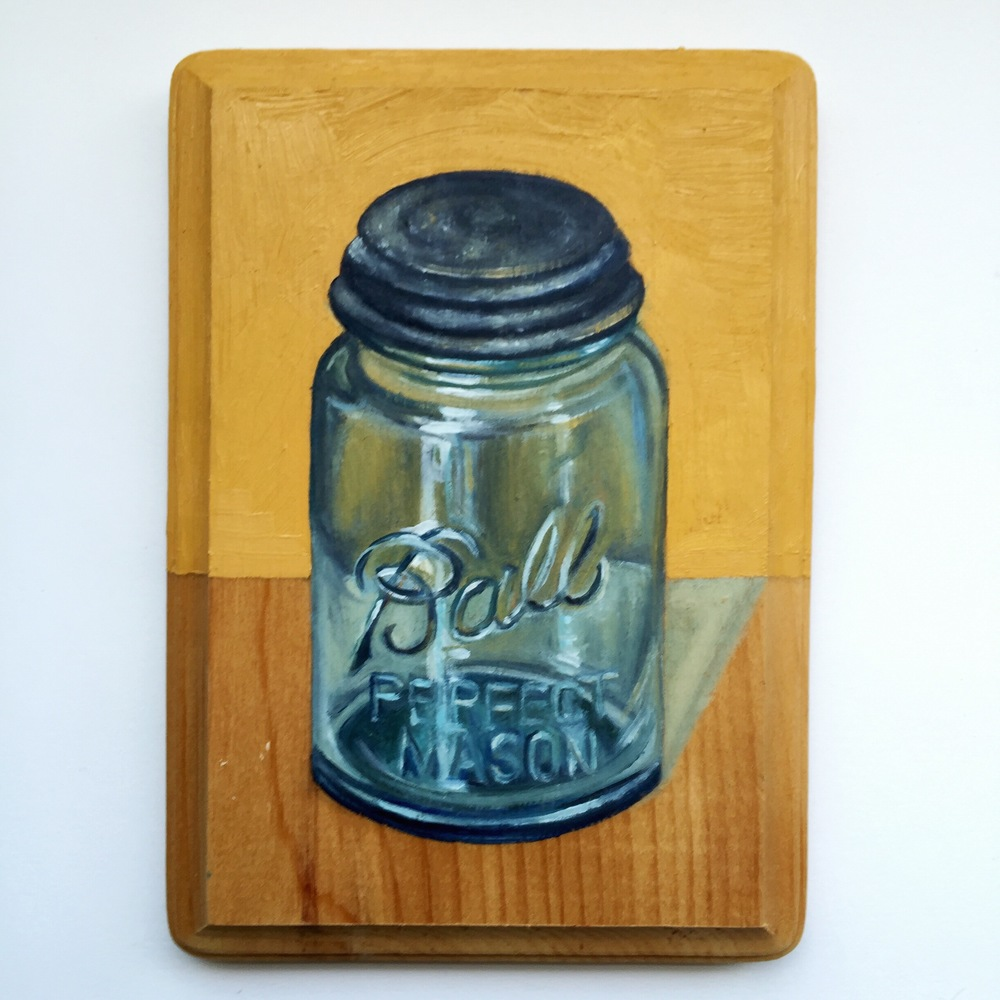 Yellow Jar [oil on wood]