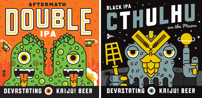 Mikey Burton from Scott Hull Associates Labels Double and Cthulhul