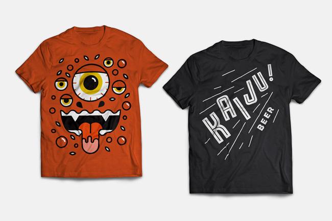 Mikey Burton from Scott Hull Associates KAIJU! t-shirts