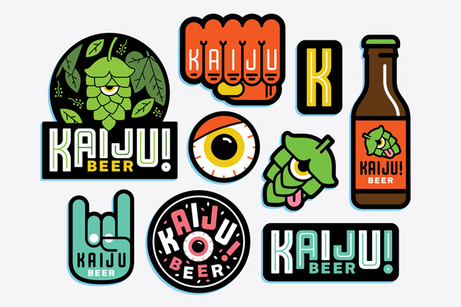 Mikey Burton from Scott Hull Associates KAIJU! Stickers