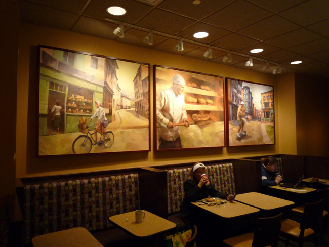 Scott Hull Associates Larry Moore for Panera in store cafe