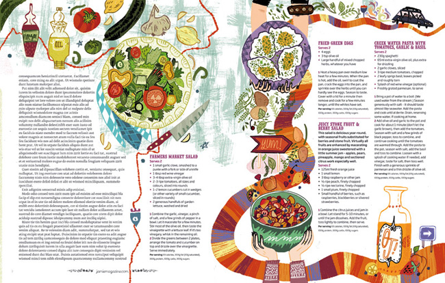 Meg Hunt from Scott Hull Associates for Jamie Oliver magazine