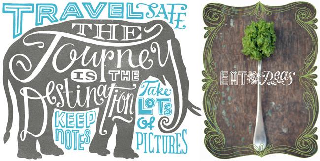 Lisa Ballard from Scott Hull Associates lettering