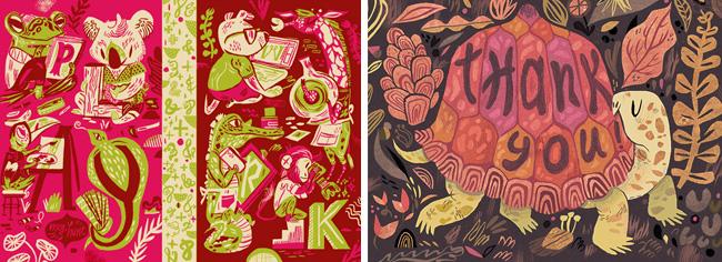 Meg Hunt from Scott Hull Associates lettering