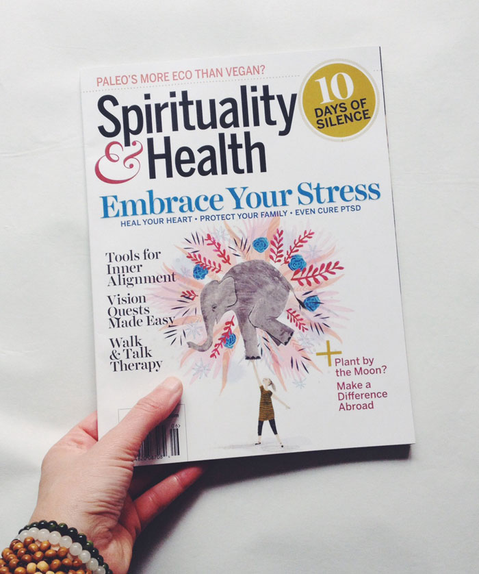 Penelope Dullaghan from Scott Hull Associates for Spirituality&Health cover