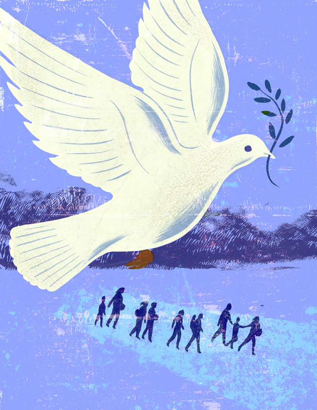Curtis Parker for Health Progress Magazine on Immigration the dove