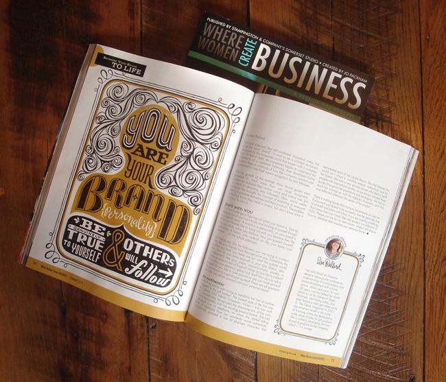 "Lisa Ballard from Scott Hull Associates, ""Where Women Create Business"" article on Bring Your Brand to Life."