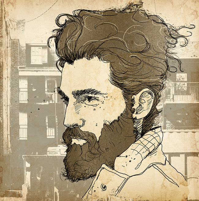 David Reinbold from Scott Hull Associates portrait of hipster