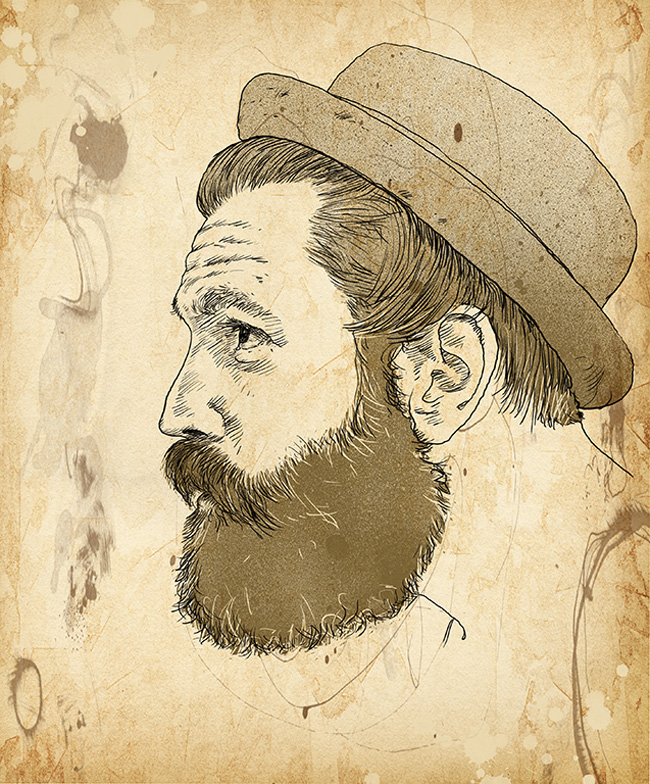 David Reinbold from Scott Hull Associates hipster portrait