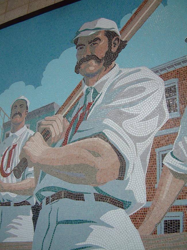 Mark Riedy from Scott Hull Associates GABP 1869 mural detail