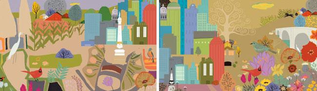 Andrea Eberbach from Scott Hull Associates for IU Simon Cancer Center - Sketches - city -Suburbs -web 650