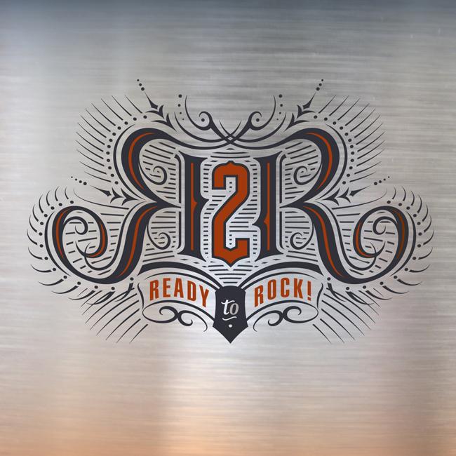 Mark Riedy from Scott Hull Associates for Ready 2 Rock identity