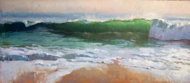 Larry Moore from Scott Hull Associates for Surfology, breaking