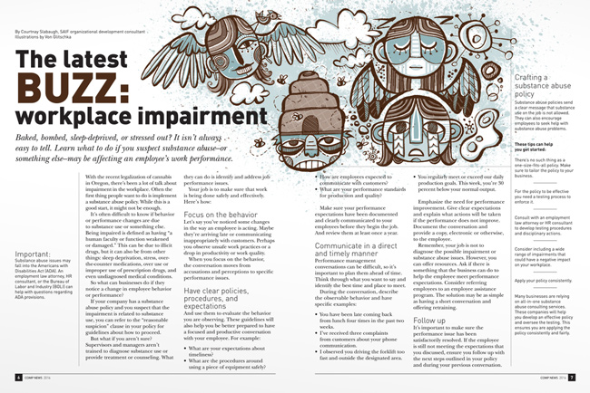 Von Glitschka from Scott Hull Associates for COMPNEWS inside spread