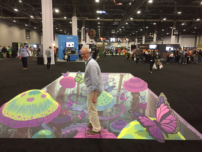 Mark Riedy-Adobe MAX-Floor Graphic