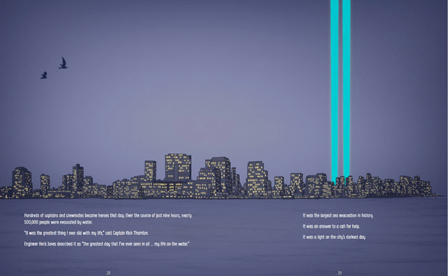 Remembering where teh towers stood illustration