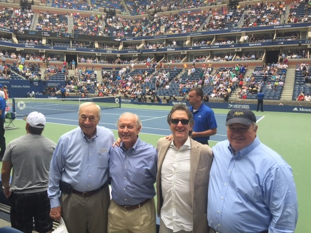 Sec. Dalton, Bob Blair, Doug Holladay, & Jim Seneff on the court