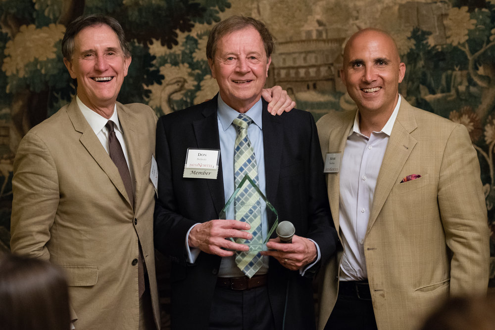 2017 Non-Obvious Idea Dinner winner Don Bielinski with PathNorth Founder Doug Holladay and Executive-in Residence Adam Kaufman