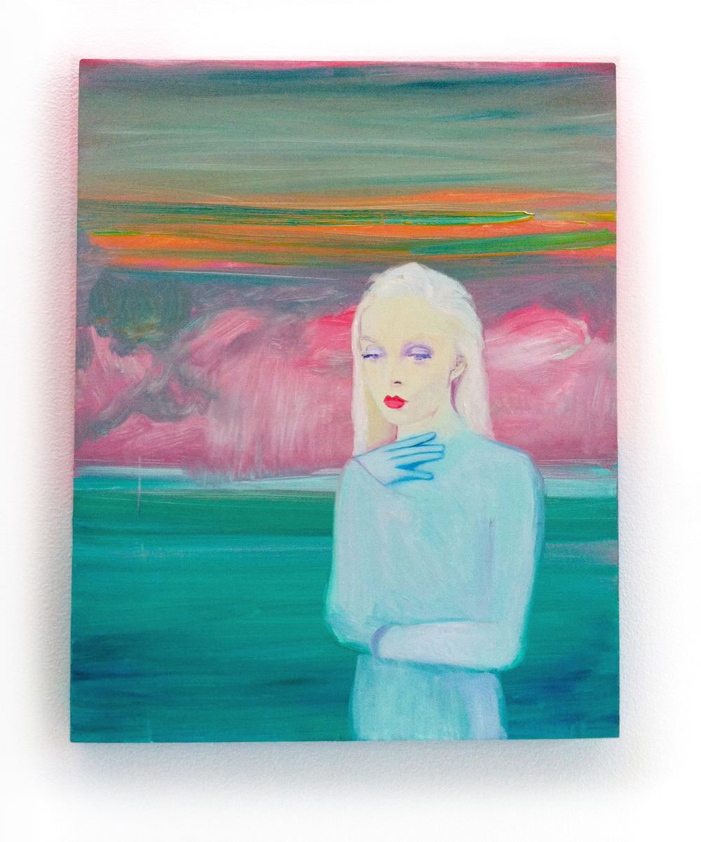 """The Pink Hour, oil on wood, 18"""" by 20"""", 2013"""