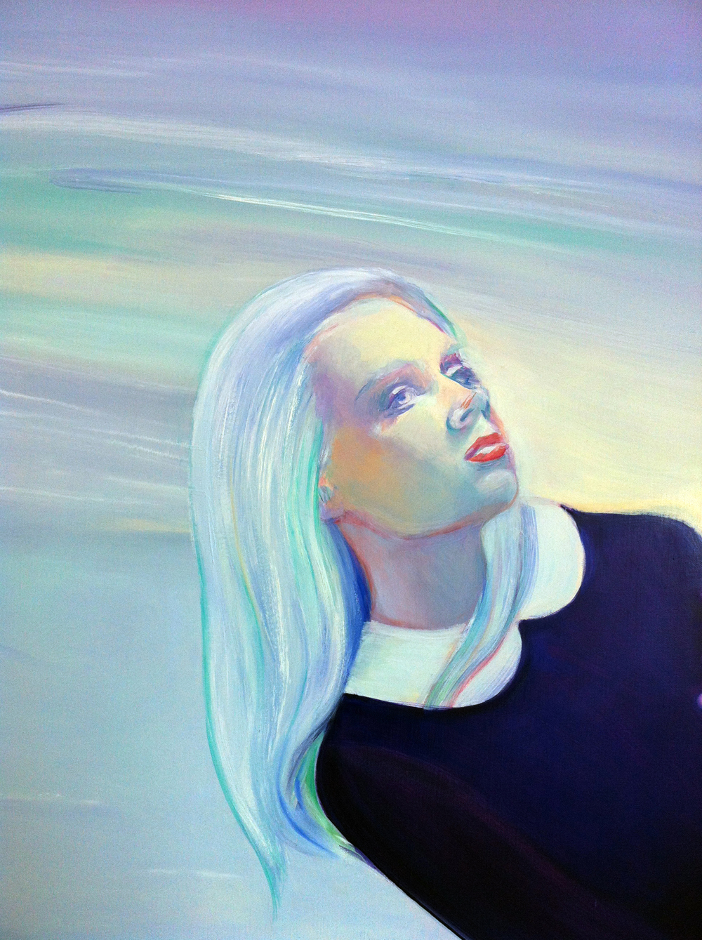 "Lucrece, Oil on Linen, 56"" by 78"", 2014. Detail."