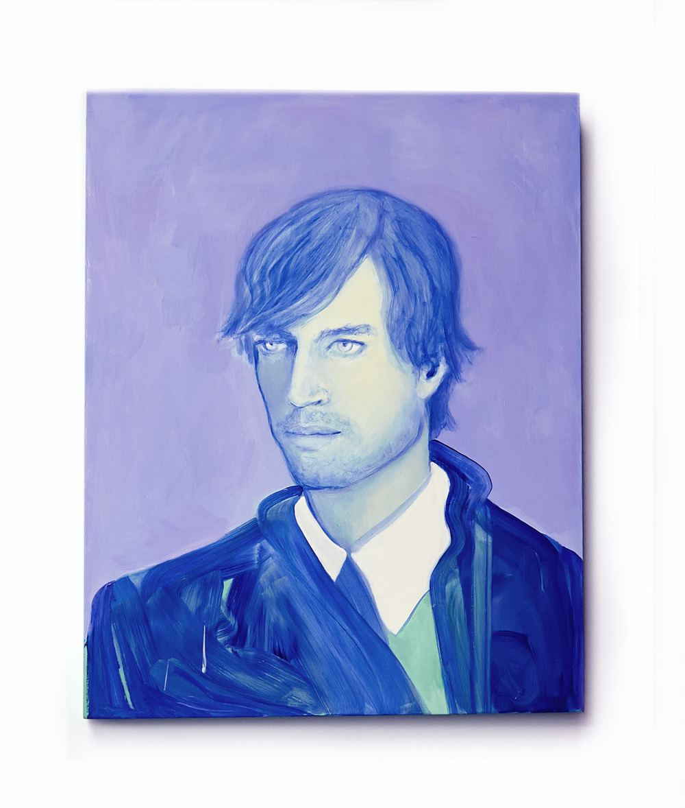 david in blue, oil on wood, 16 x 20 in. 2014