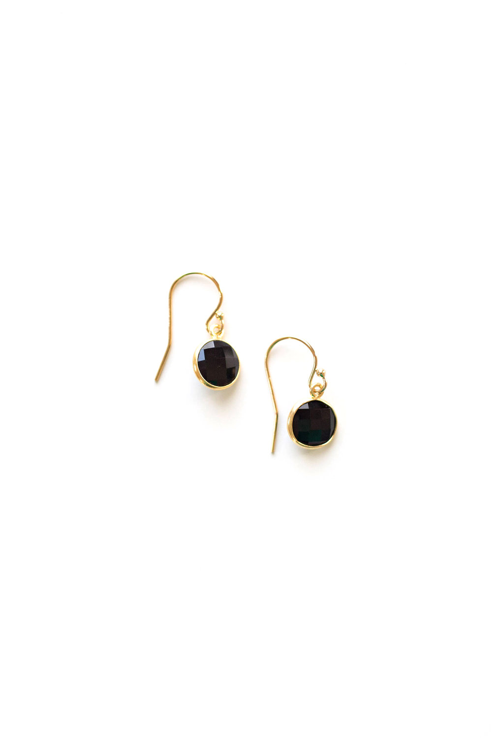 gem gold kill dolls earrings drop clear hidden asymmetrical
