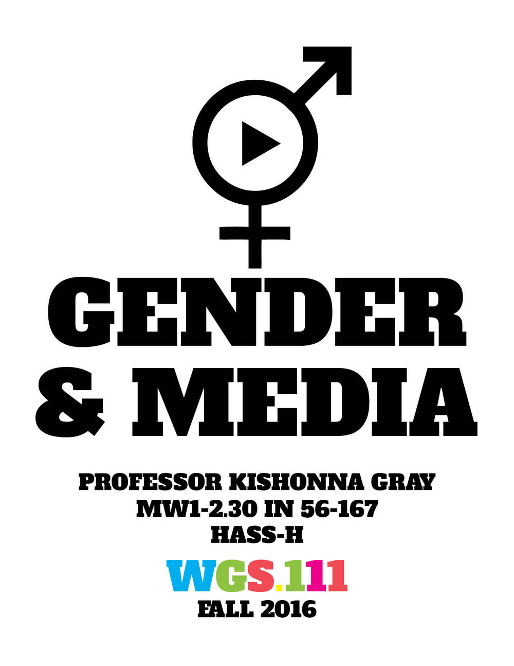 WGS.111   Gender and Media Studies   Register Now
