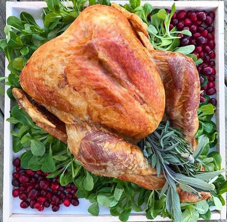 A fresh & delicious Mecox Bay Dairy turkey! Photo:  Hamptons Aristocrat