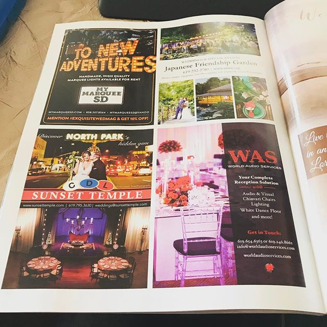 We are officially an ad in @exquisitewedmag thank you all so much for all your love and support! 😍💪🏽💍🍾🥂#sunsettemplesd #northpark #sandiegoevents #wemadeit #startedfromthebottomnowwehere #lifeofaneventplanner