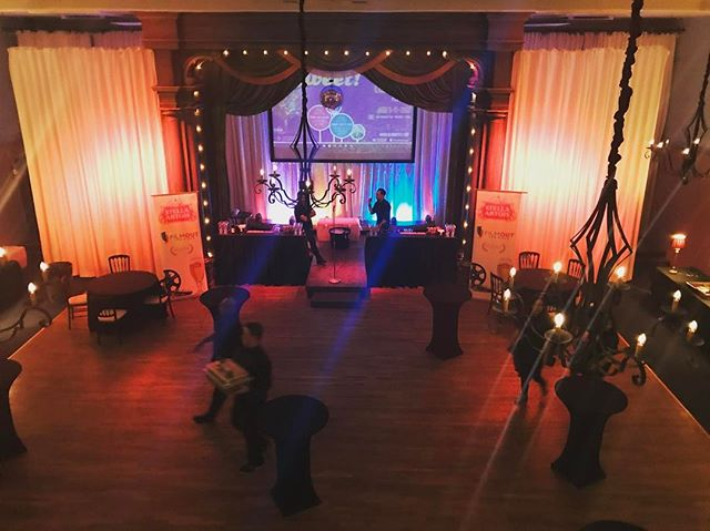 We are crazy about our beautiful proscenium stage. It's the perfect backdrop for any special event! #tbt #sdweddings #sunsettemplesd #sandiegoevents #filmoutsandiego