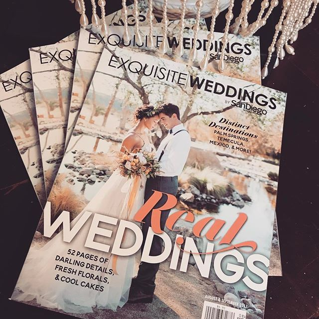 The new issue of @exquisitewedmag is out! Check out our ad in the mag! ❤️💍💋 #weddingwedensday #sunsettemplesd #sandiegoweddings