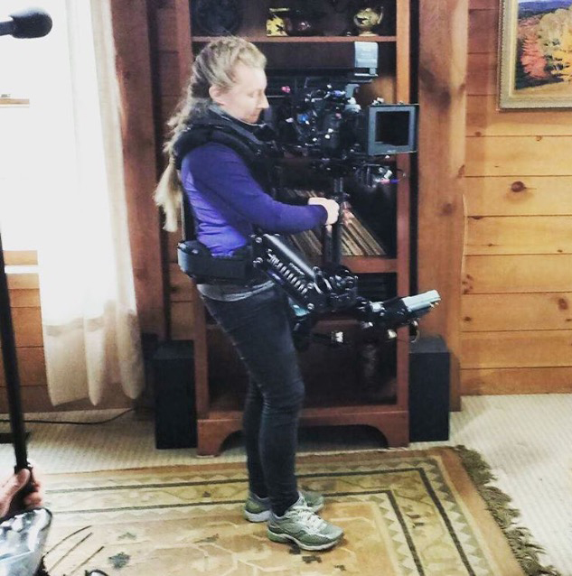 steadicam operator on set The Luring written and directed by Christopher Wells