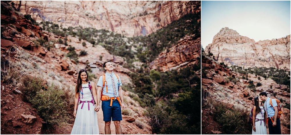 zion national park adventure engagement session zion portraits utah photographer arizona photographer 7.jpg