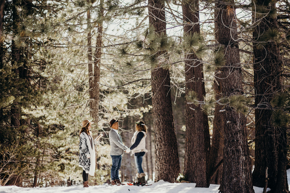 Shonna and Jason planned their elopement incredibly fast - and the most important details to them were an officiant and a photographer. Thankfully, they scored  Meredith  who also referred them to me. We had a blast helping make their day magical.