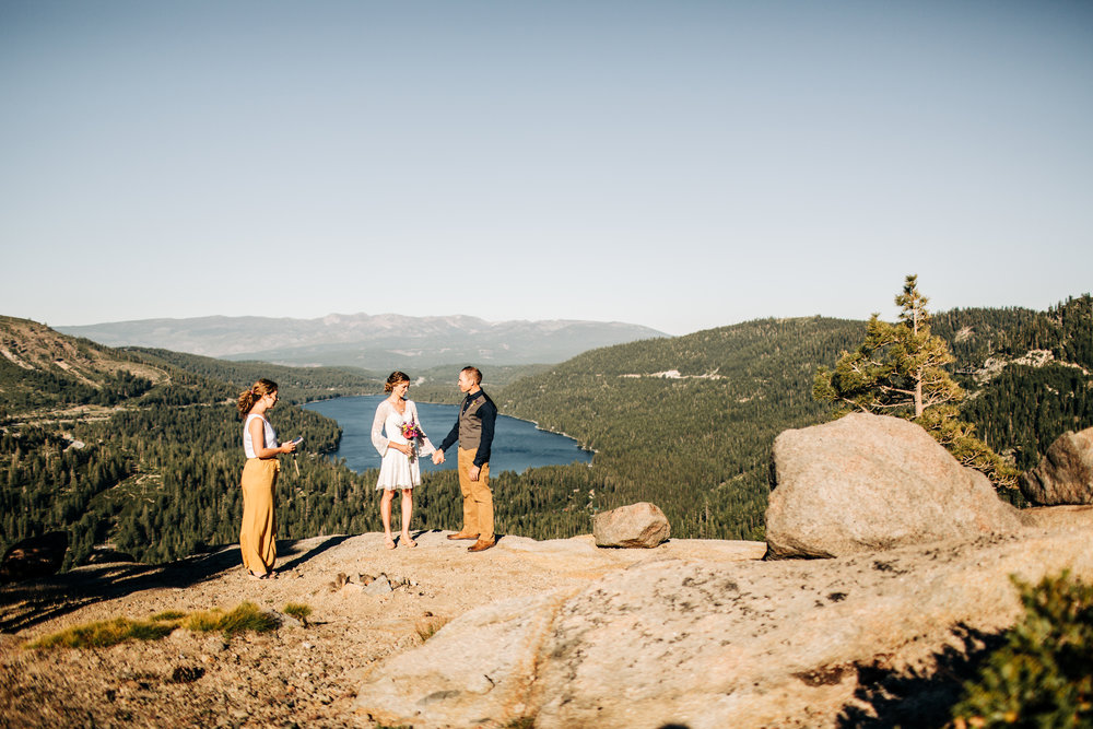 TRUCKEE/TAHOE WEEKDAY ELOPEMENT PACKAGE// $2200 - - 4 guests max- 3 hours of coverage- online gallery of high-res images- Monday-Thursday ONLY, no exceptions.* may be booked for out of town elopements, but travel fees apply.