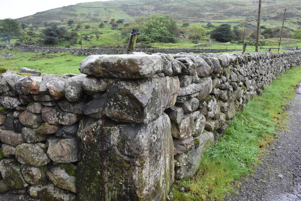 Take a moment to soak this in.... A real world cornerstone in Wales. Can you see how this stone is the foundation for the rest of the wall? Photo by Troy McCormick.