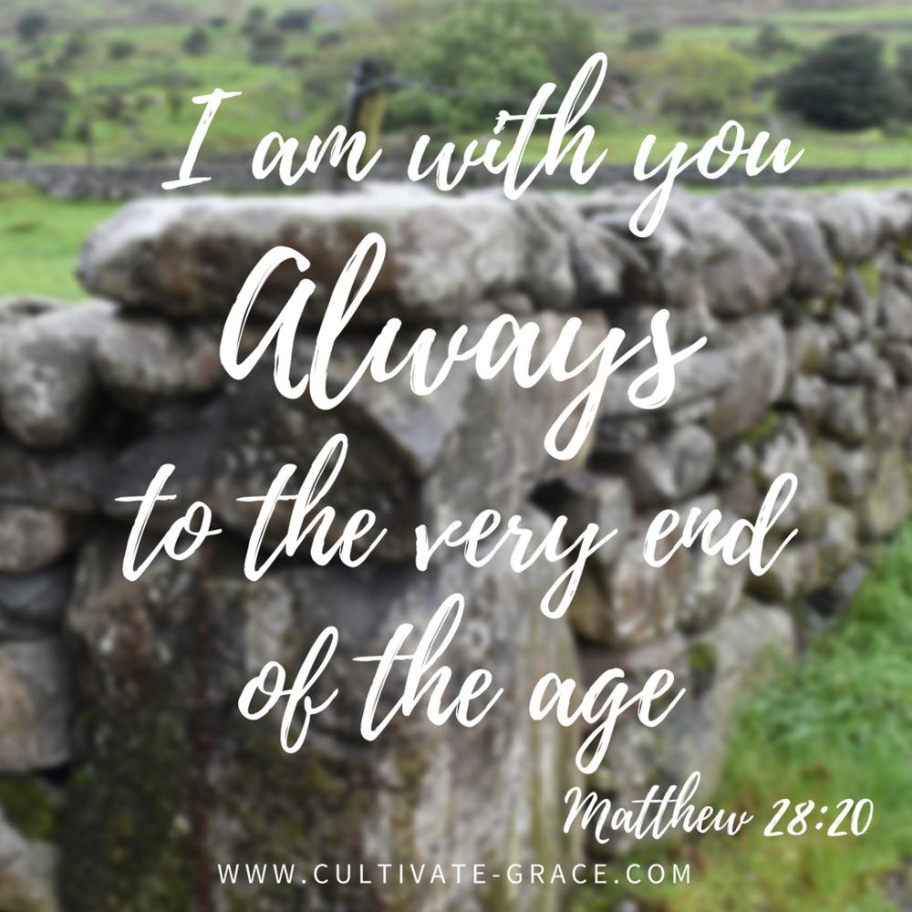 Matthew 28:20 - Cornerstone - Cultivate Grace