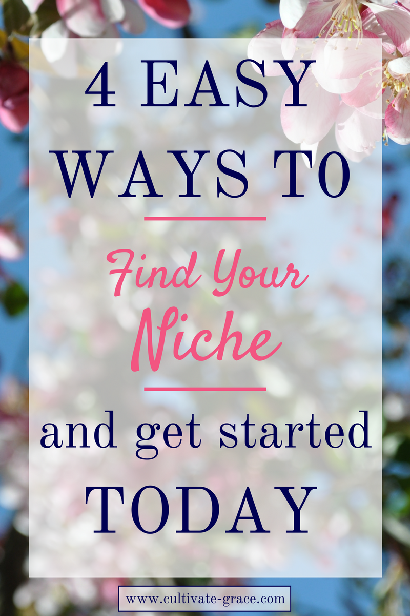 How to Find Your Niche - Cultivate Grace