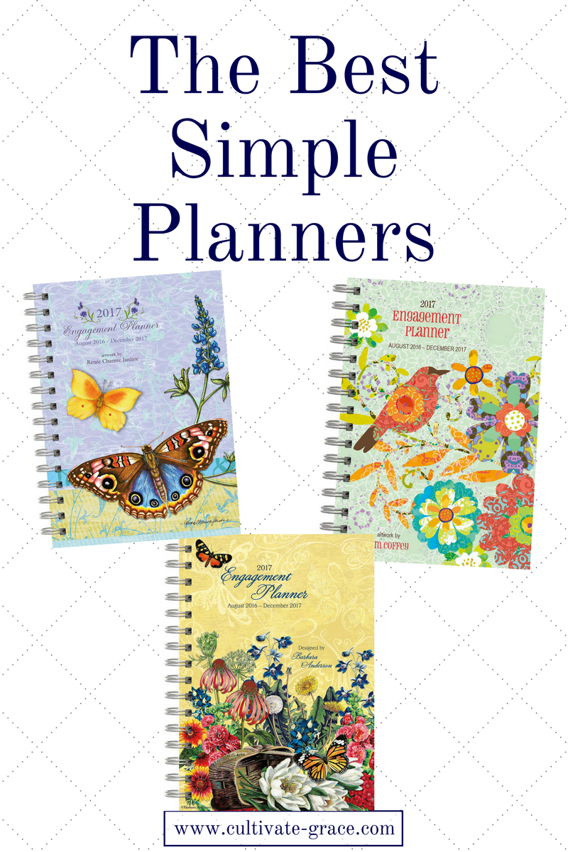 The Best Simple Planners - Cultivate Grace