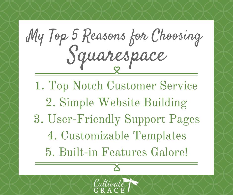 Top 5 Reasons for Choosing Squarespace