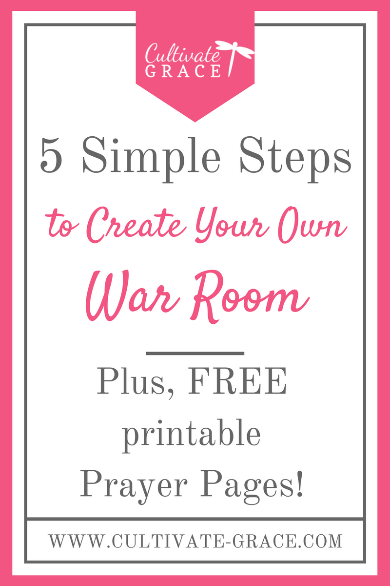 DIY War Room - Cultivate Grace