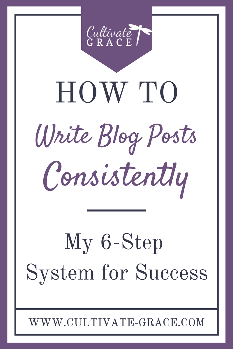 How to Write Blog Posts Consistently - Cultivate Grace - Intentional Blogging