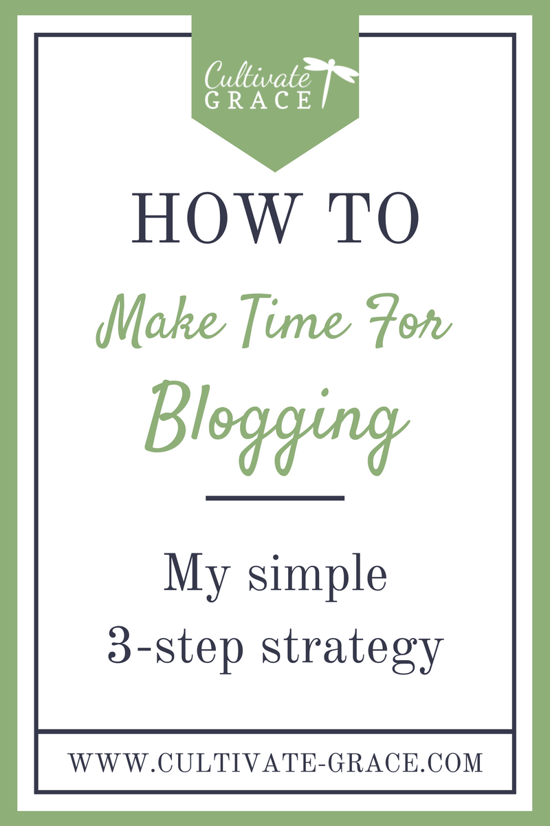 How To Make Time For Blogging - Cultivate Grace